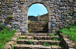 PASSAGE OF THE MEDIEVAL FORTRESS Royalty Free Stock Image