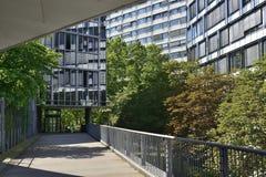 Passage between modern architecture, Stuttgart Stock Image