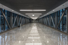 Passage in modern building Stock Image