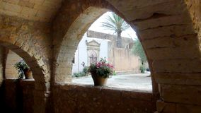Passage in a monastery. Passage in a cretan  monastery Royalty Free Stock Images