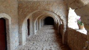 Passage in a monastery. Passage in a cretan  monastery Royalty Free Stock Image