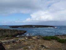 Passage naturel au point de Laie, Oahu, Hawaï Photos libres de droits