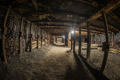 Passage through old coal mine Royalty Free Stock Image