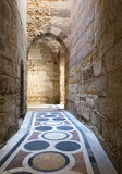A passage in an old mosque in Old Cairo Stock Photos