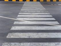 Passage piéton sur la route Photographie stock libre de droits