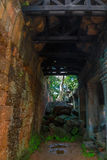The passage in the Preah Khan temple Royalty Free Stock Images