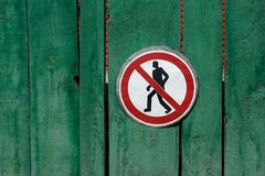 Passage prohibited. Sign Stock Images