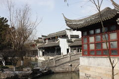 The passage and resident  beside Jiaxing South Lake Stock Photography