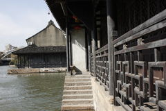 The passage and resident  beside Jiaxing South Lake Royalty Free Stock Photography