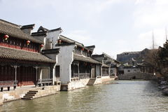 The passage and resident  beside Jiaxing South Lake Stock Image