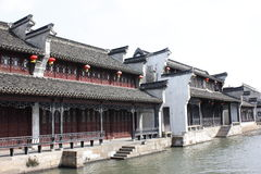 The passage and resident  beside Jiaxing South Lake Royalty Free Stock Photo