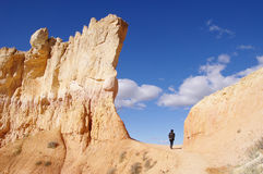 Passage in the rocks of Bryce Canyon National Park Stock Photo