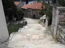 Passage in Rovinj, Kroatië Stock Foto