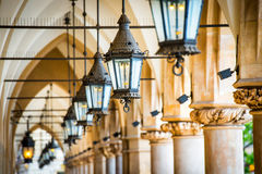 Passage with row of lamps Stock Image