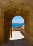 Passage in Santa Barbara Castle Royalty Free Stock Images