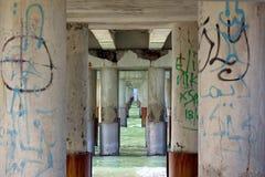 Passage in the sea, murales on pillars of jetty in Versilia (Viareggio) Royalty Free Stock Photos