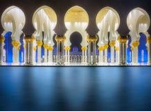 Passage of Sheikh Zayed Grand Mosque Abu-Dhabi Stock Image