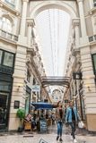 The Passage shopping arcade interior in The Hague. The Hague, Netherlands - August 24, 2018: The Passage shopping arcade interior in The Hague, Netherlands stock image