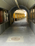 Passage in Sibiu city center. Royalty Free Stock Image