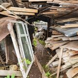 Passage in the slums Royalty Free Stock Photo