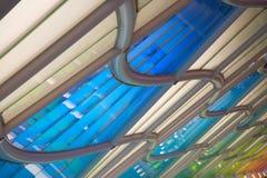 Passage souterrain dans l'aéroport de Chicago O'Hare Photographie stock libre de droits