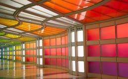 Passage souterrain dans l'aéroport de Chicago O'Hare Images libres de droits
