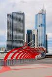Passage supérieur au district des affaires de Melbourne Photographie stock libre de droits