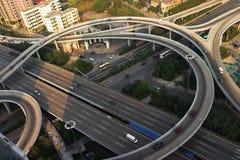 passage supérieur de guangzhou de ville Images libres de droits