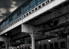 Passage supérieur de souterrain de NYC photo stock