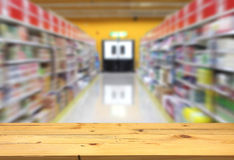 A passage in the supermarket. Royalty Free Stock Photography