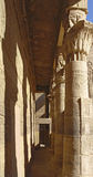 Passage at the Temple of Philae in Egypt Stock Photo