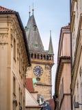 Passage till den gamla stadfyrkanten Arkivfoton