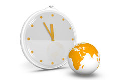 The passage of time. Clock showing the passing time Royalty Free Stock Photo