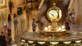 Passage of time at Grand Central Station stock video footage
