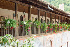 Passage to the cells of the monastery Bachkovski royalty free stock photos