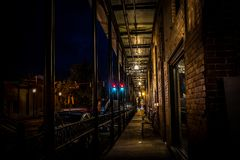 Passage to Front Street. In Natchitoches Louisiana Stock Photos