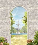 Passage to the summer Park vector illustration