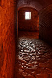 Passage tunnel. With weak light inside ancient Hagia Sophia in Istanbul Stock Photo