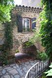 Passage under house at Bormes les mimosas. Francce Stock Image