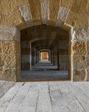 A passage under an old citadel in Alexandria, Egypt Stock Image