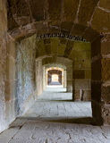 A passage under an old citadel in Alexandria, Egypt Stock Photo