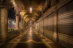 Passage in Venice on St.Marcos Sqaure royalty free stock images