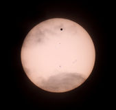 Passage of Venus across the disk of the Sun Royalty Free Stock Image