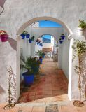 The passage. A very pictoresque passage in Estepona - Spain Stock Photo