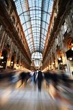 Passage Vittorio in Milan. The Galleria Vittorio Emanuele II is a covered arcade situated on the northern side of the Piazza del Duomo in Milan Stock Photo
