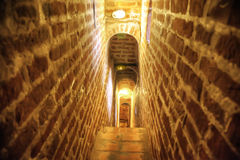 Passage-way on a bell tower Royalty Free Stock Photography
