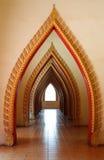 Passage way to light window, Kanchanaburi,thailand Royalty Free Stock Image