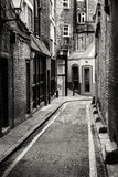 Passage in Whitechapel. The district where Jack the Ripper comitted his crimes, in London Royalty Free Stock Photography