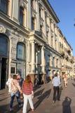 Passagebyggnad på den Nevsky utsikten Royaltyfria Bilder