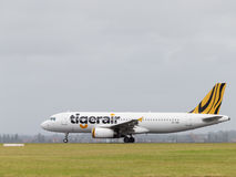 Passageiro Airbus A320-232 Tiger Airways Australia Fotos de Stock Royalty Free